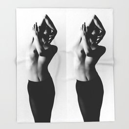 Nude dancer black and white nude photography 2010 Throw Blanket