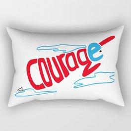 Courage superhero - inspiring Rectangular Pillow