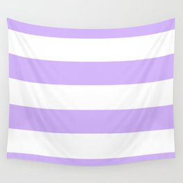 Light Purple and White Stripes Wall Tapestry