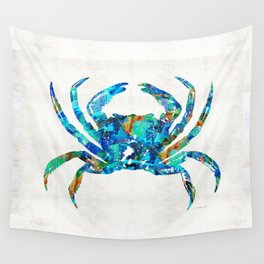 Blue Crab Art by Sharon Cummings Wall Tapestry