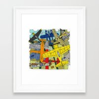 planes Framed Art Prints featuring PLANES by The Gold Egg Company