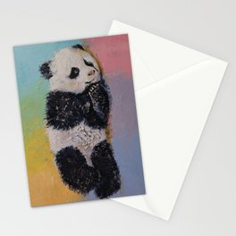 Baby Panda Rainbow Stationery Cards