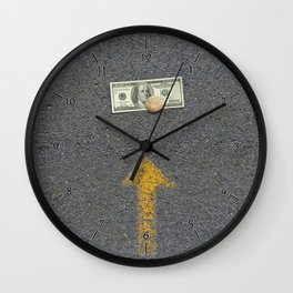 Up Road - Sideline money Wall Clock