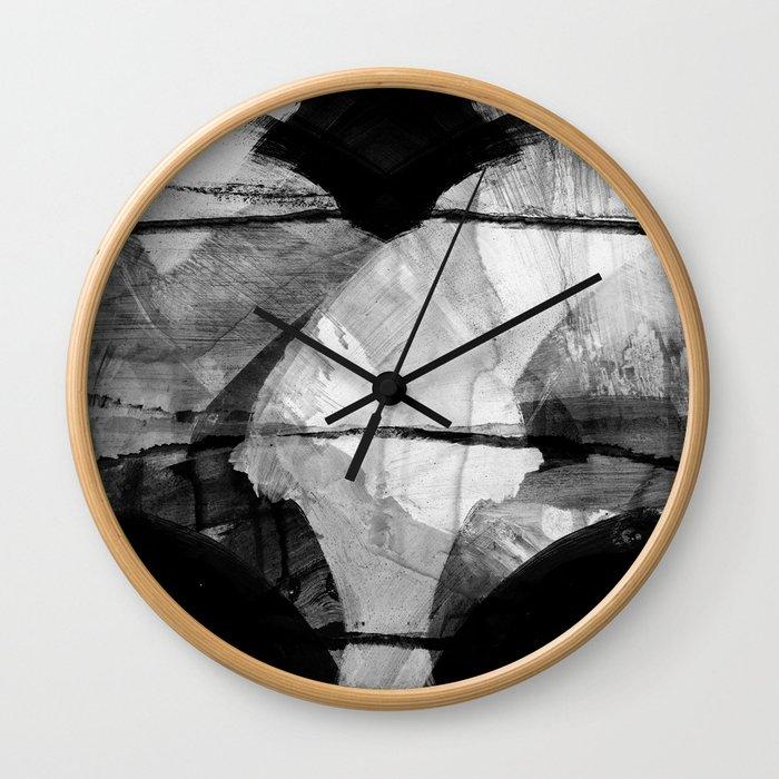 a stark winter morning Wall Clock