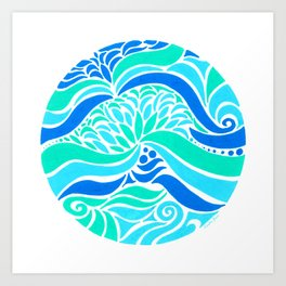 Makin Waves :: Color Therapy Collection :: Art Print