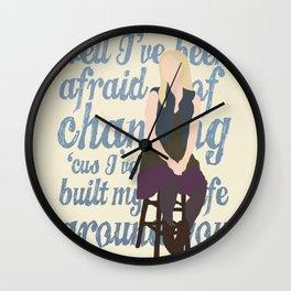 Brittana - Glee - Brittany Pierce [Solo] Landslide typography minimalist design Wall Clock