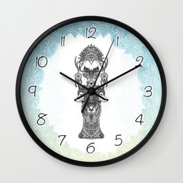 Indian Totem Wall Clock