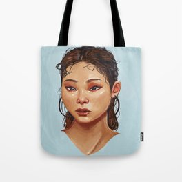 Red Eyes Portrait Tote Bag