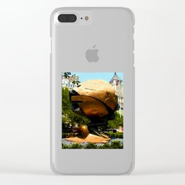 World Trade Center Globe jGibney The MUSEUM Society6 Gifts Clear iPhone Case