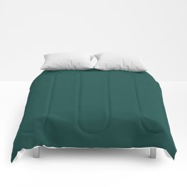 Pantone Forest Biome 19-5230 Green Solid Color Comforters