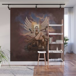 Steampunk Winged Veronika Wall Mural