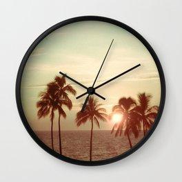 Sunset at Mauna Kea Beach, Hawaii Mint Wall Clock