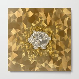 POLYNOID Piggy / Gold Edition Metal Print