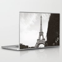 eiffel Laptop & iPad Skins featuring eiffel by samantha lawson