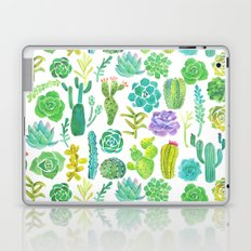 Watercolor cactus and succulent Laptop & iPad Skin