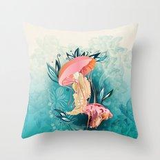 Jellyfish tangling Throw Pillow