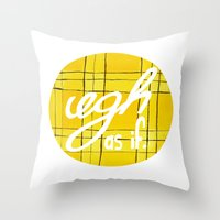 clueless Throw Pillows featuring Ugh, As If by NoelleGobbi