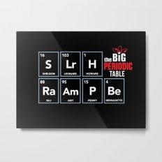 The Big (Bang) Periodic Table Metal Print