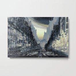 Parisian Mosaic - Piece 24 - Rue de Rivoli Metal Print