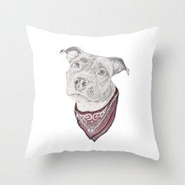 pitbull//dog Throw Pillow