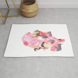 Watercolor Pink Black Gold Flow | [dec-connect] 52. breakfree Rug