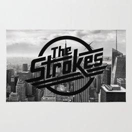 The Strokes Logo New York Black And White Rug