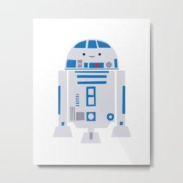 Itty Bitty R2D2 -- droid kawaii nursery art print Metal Print