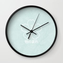 mono no aware – green Wall Clock