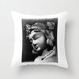 Woman Face Throw Pillow
