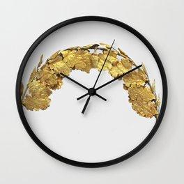 Roman Golden Head Wreath (1st Century) Wall Clock