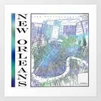 new orleans Art Prints featuring New Orleans by Catherine Holcombe