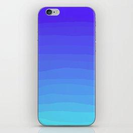 Cobalt Light Blue gradient iPhone Skin