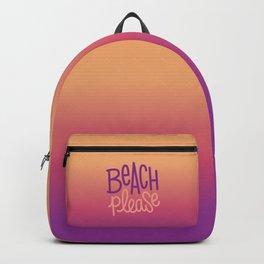 Beach please 2 Backpack