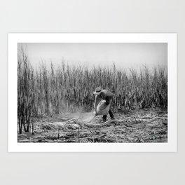 Cane Cutter - Blessed Job - Art Art Print