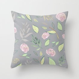 Simple and stylized flowers 7 Throw Pillow