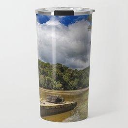 Pontoon on the Barron River Travel Mug