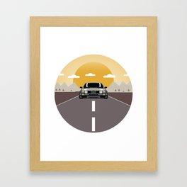 E30 Circle Sunset Framed Art Print