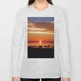 Split Sun Sunset on the Sea Long Sleeve T-shirt