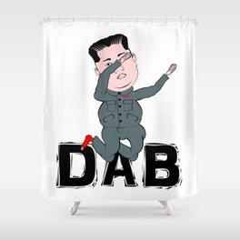 Kim Jong Un Dabbing Shower Curtain