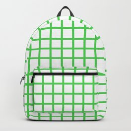 Grid (Green & White Pattern) Backpack