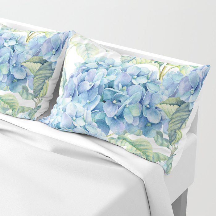 Blue Hydrangea Kissenbezug