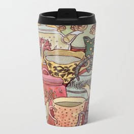Tea Party Metal Travel Mug