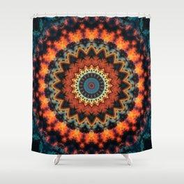 Fundamental Spiral Mandala Shower Curtain