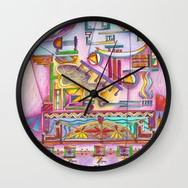 7 thoughts in color Wall Clock