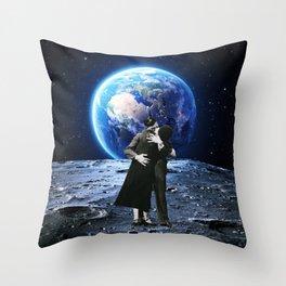 A Kiss Over The Moon Throw Pillow