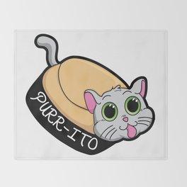 Purr-ito Kitty Burrito Throw Blanket
