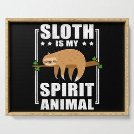 Sloth Is My Spirit Animal Cute Sloths Serving Tray