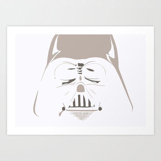 Ghost Darth Vader Art Print