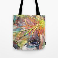 bride Tote Bags featuring Bride by Andrea Montano