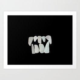 Fangs in the Dark Art Print